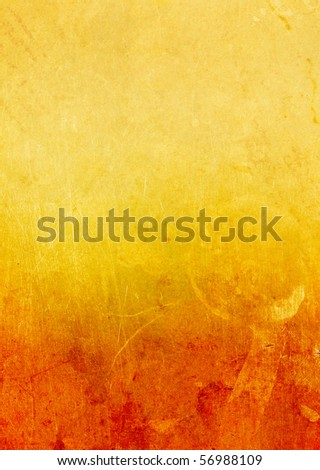 Gold old paper with a figured emarginated, isolated on white