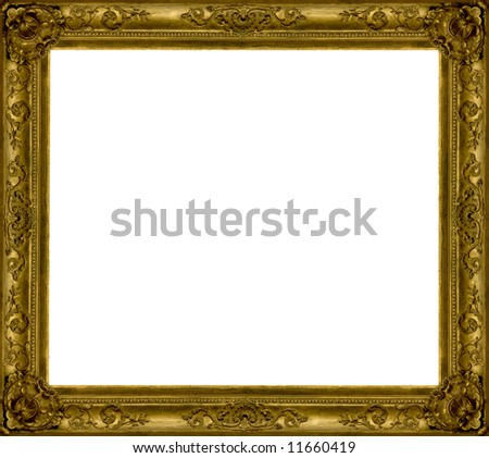 gold wooden frame
