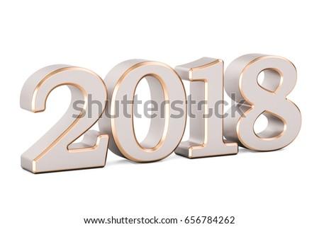 2018 golden inscription  3d...