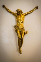 Golden Jesus Christ on the cross
