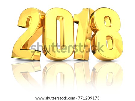 2018 golden new year with...
