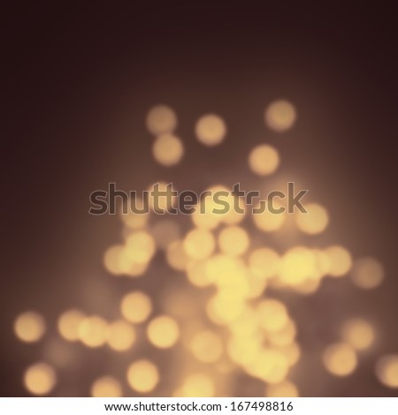 Golden Night Blurred lights for Christmas, Party, Holiday wallpaper. Elegant Dark bokeh background with Abstract Defocused Lights.