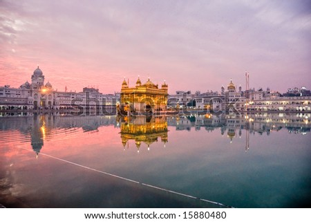 golden temple amritsar punjab. stock photo : Golden Temple in