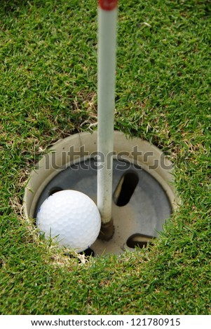 Golf ball hole in one