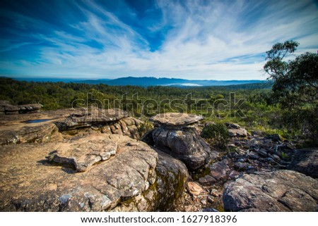 8.Grampians mountain, Victoria, Australia- March 2019: Rock formation of Grampians national park Stock photo ©