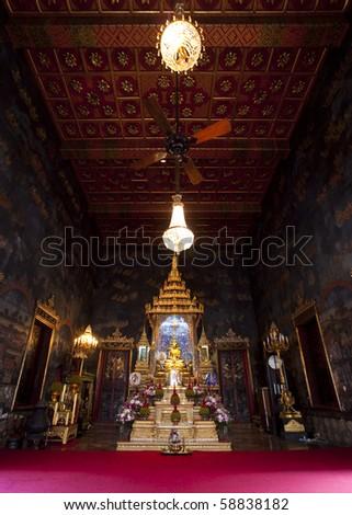 Grand Buddha Gold Hall at  Wat Rajpradit,Bangkok,Thailand