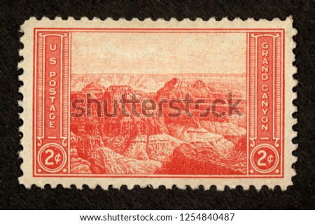 #741 Grand Canyon 2 cent Postage Stamp #1254840487