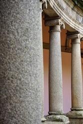 Granite columns in a monastery in Porto