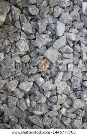 Granite split on white background