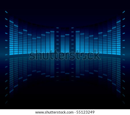 Graphic Equalizer Display - stock photo