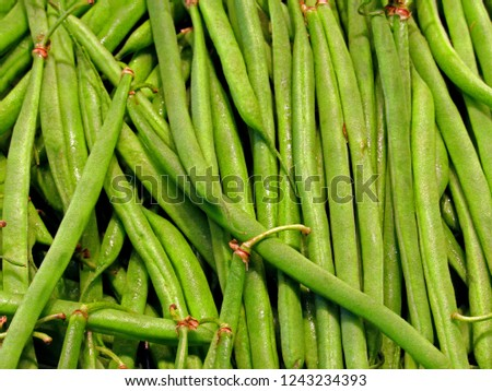 green beans in shell