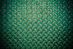 green diamond metal plate background