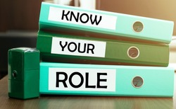 3 green office folders with text Know Your Role