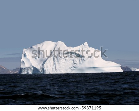 Greenland iceberg in a bay