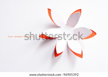 Greeting card with paper flower #96905392