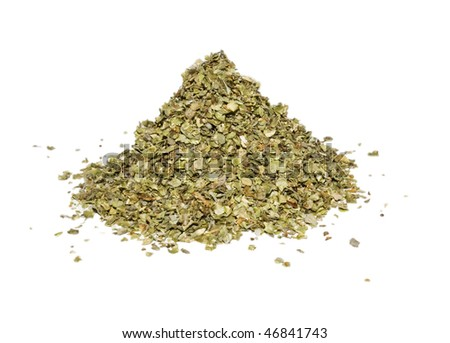 Grounds marjoram isolated on white background