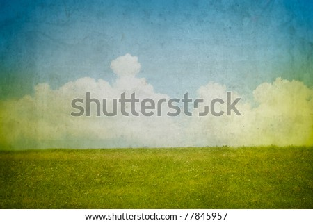 Grunge background with landscape