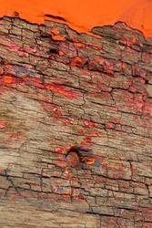 Grunge, weathered wood background texture.