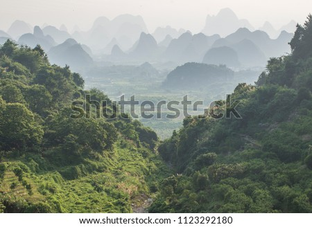 Guilin Yangshuo Mountain Range #1123292180