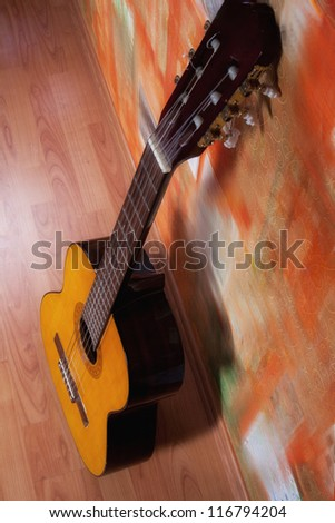 Guitar background - stock photo