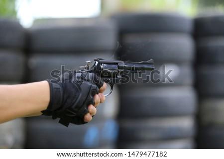 Gun and ammunition equipment Hold a gun #1479477182