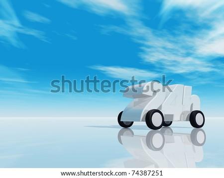 24h on wheels - 3d illustration