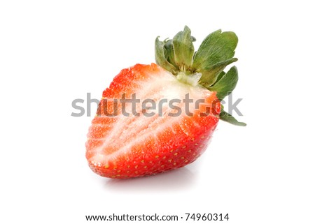 Half of strawberry.