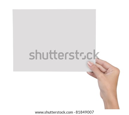hand holding blank paper isolated on white background 7