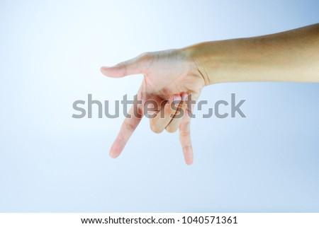 hand sign,hand language #1040571361