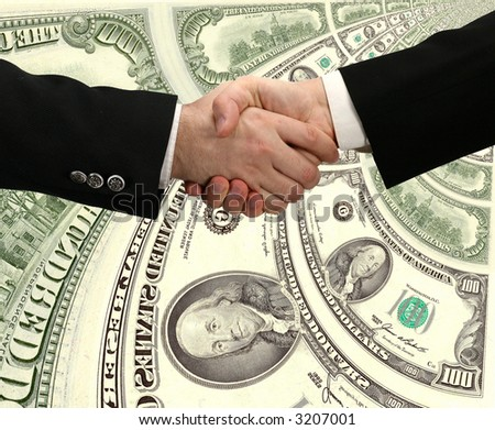 handshake and American dollars