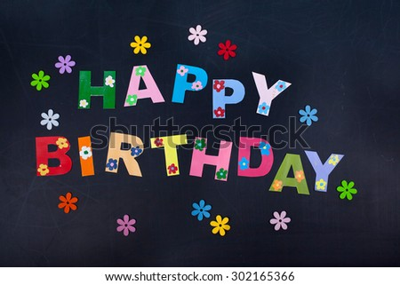happy birthday card design with cute hand drawn flowers vector illustration ez canvas