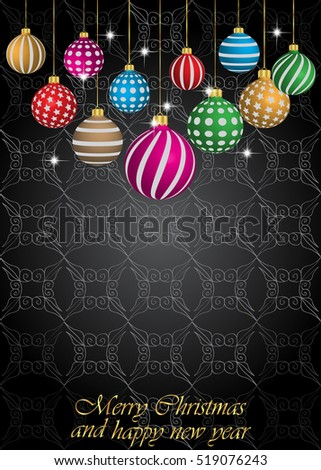 2017 Happy new year background for your flayer and greeting card for christmas. #519076243
