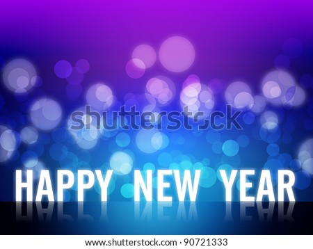 2012 Happy new year background with beautiful bokeh - stock photo