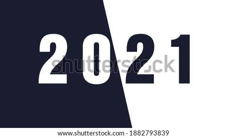 2021 Happy New Year elegant greeting card illustration