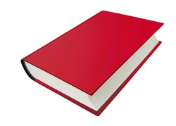 Hard Cover Book red, Hardcover book thick white paper closed isolated on background. This has clipping path.
