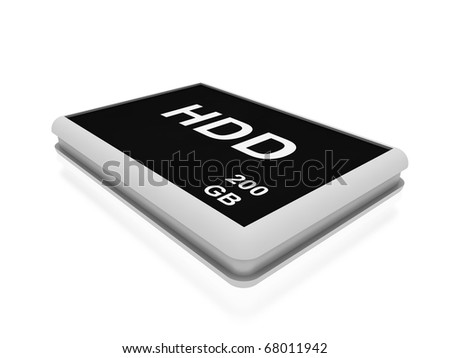 hard disk drive  isolated on white
