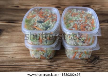 Healthy eating, healthy lifestyle, salad, vegetarian food.
