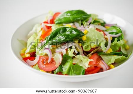 Healthy green salad #90369607