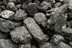 Heap of coal.