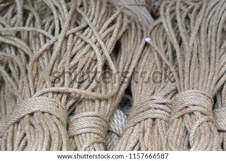 Hemp ropes .                    #1157666587