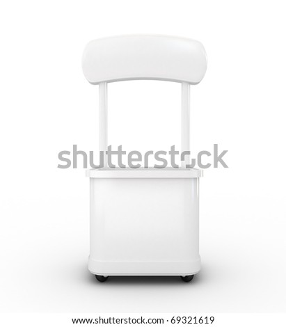 High res.3d white promotion counter isolated