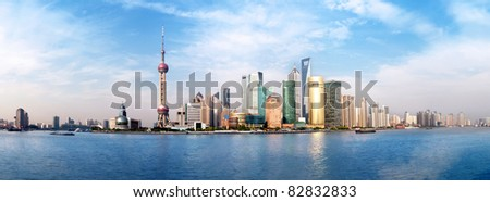 2011,Highly detailed image of the current Shanghai Skyline.