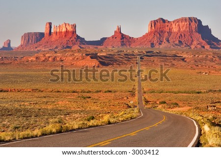 Highway crossing the Valley of Monuments
