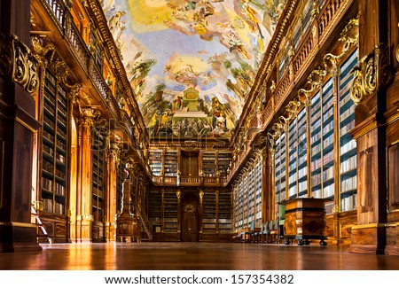 Historical Library Of Strahov Monastery In Prague, Philosophical Hall