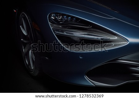 1/5/19 - Hoboken,NJ - The 2018 Mclaren 720S looks like something from another world. Front end closeup. #1278532369