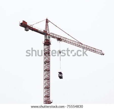 hoisting crane isolate on white background