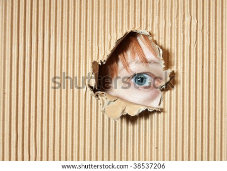 Hole in Paper And Eye