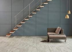 Home stair interior design for modern life style. modern decorative wall background home object