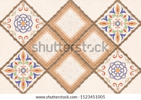 home wallpaper interior decore on pattern background
