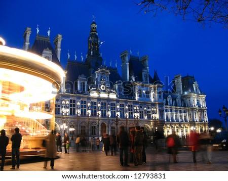 """""""Hotel de Ville"""" (Town Hall) of Paris 02, France"""